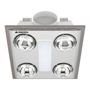 Cosmo Quattro Bathroom Heater With Exhaust & Light