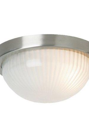 Forte Large Round 1 Light Exterior Ceiling Flush