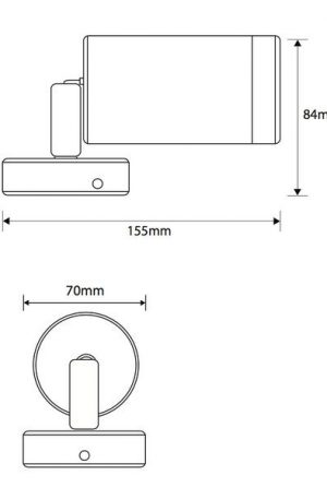 Pulse Double Adjustable Outdoor Led Wall Light 3000k
