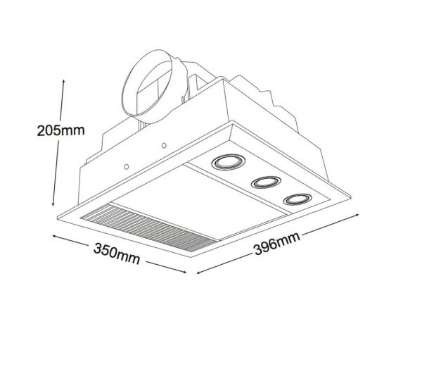 Linear Mini Led 1000w Halogen Heater