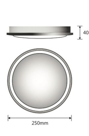 Lunar 28w Round White Oyster Surface Mounted Ceiling