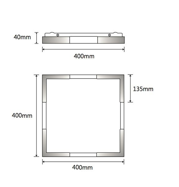 Sabre 36w Square Oyster Surface Mounted Ceiling