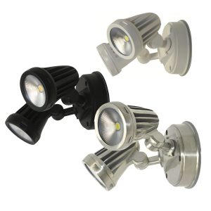 Fortress Exterior Led Twin Spot Light 3000k