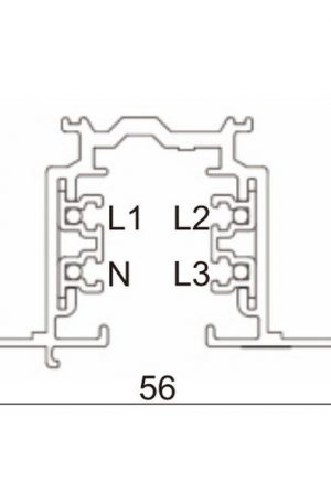 1.5 M Recessed 3 Circuit Track