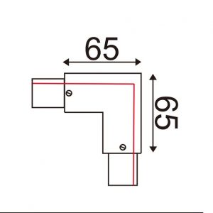 L Connector Right For 3 Circuit Track