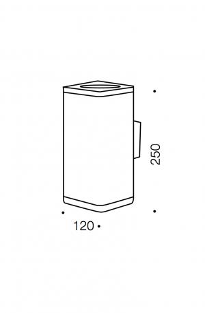 Dorcas Exterior Led Wall Lamp