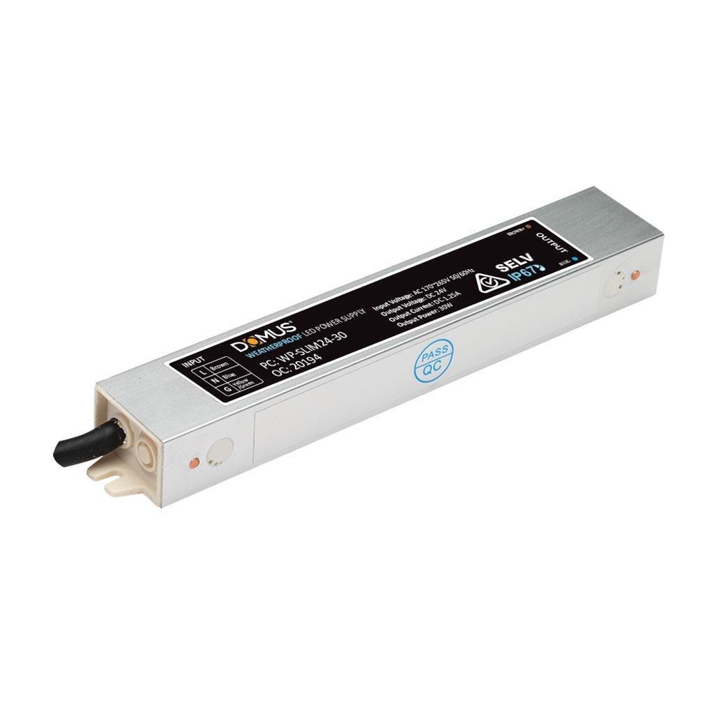 24v 30x Led Cluster: WP24/Slim-30 Constant Voltage 24V 30W Slim Weatherproof