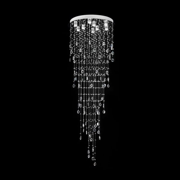 Raindrop 66 Crystal Led Chandelier