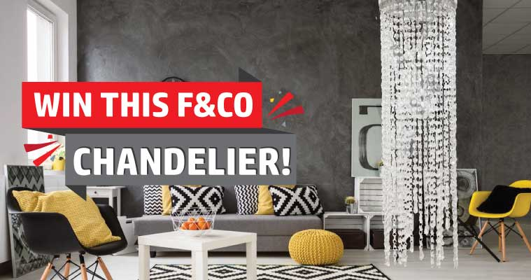 Win This F&co Crystal Chandelier Valued At $1000