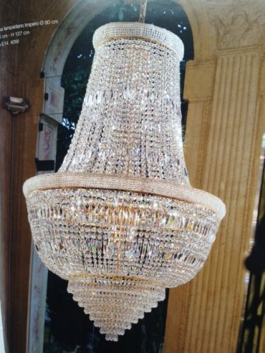 Osaka 15 Light Crystal Pendant