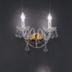 Toledo Twin Light Crystal Wall Lamp