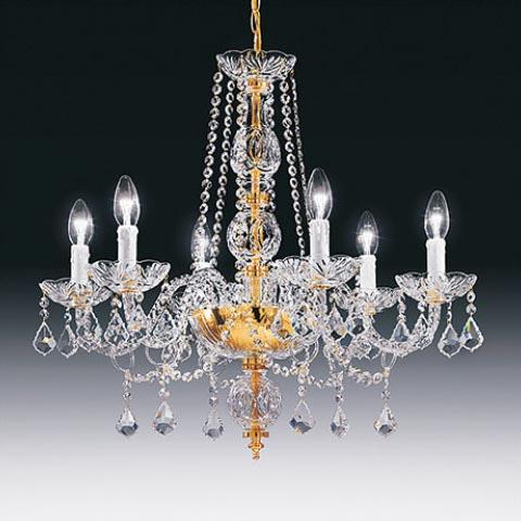 Toledo 6 Light Crystal Chandelier