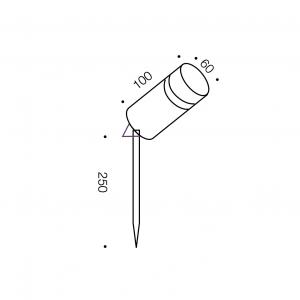 Rebus Exterior 1lt Spike Light