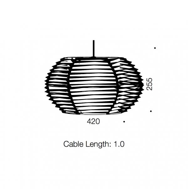 Tribe 1lt Round Pendant