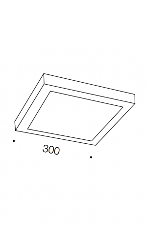 Unos Led Square Oyster Light