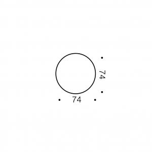 Vesta Exterior Small Round Step Light