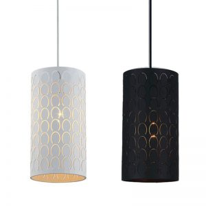 Modello Embossed Oblong Pendant Light