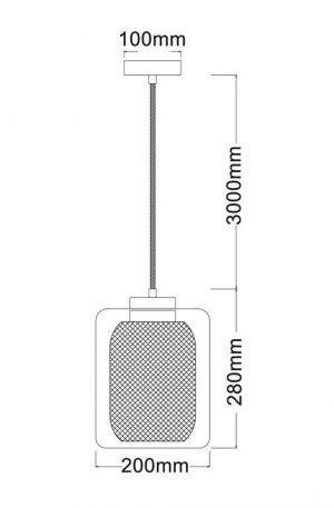Tono Mess Internal Pendant Light