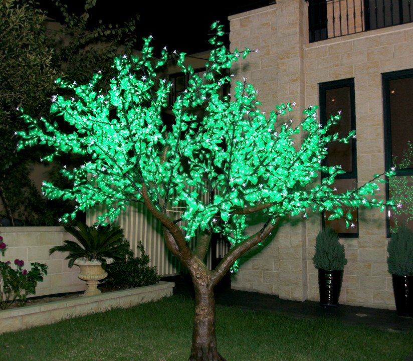 Outdoor Led Green Cherry Blossom Tree F Amp Co