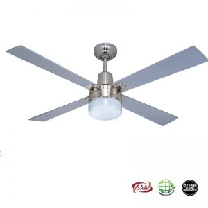 Alpha Clipper Light Ceiling Fan – Nickel