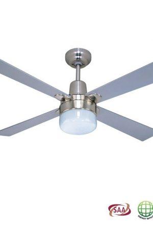 Alpha Clipper Light Ceiling Fan – Nickel