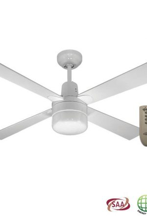 Alpha Clipper Light Ceiling Fan With Remote – White
