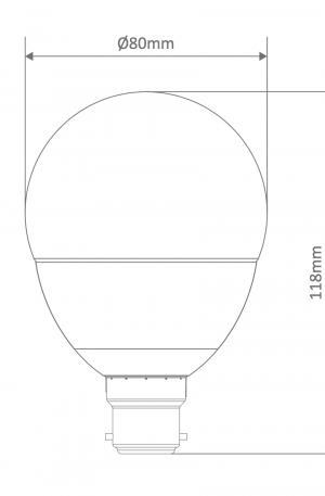G80 Spherical Frost Led B22 Globe