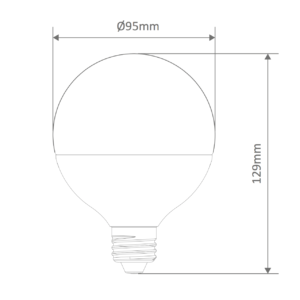 G95 Spherical Frost Led E27 Globe