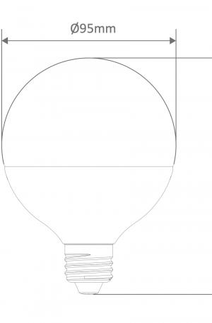 G95 Spherical Frost Led E27 Globe