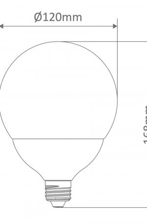 G120 Spherical Frost Led E27 Globe