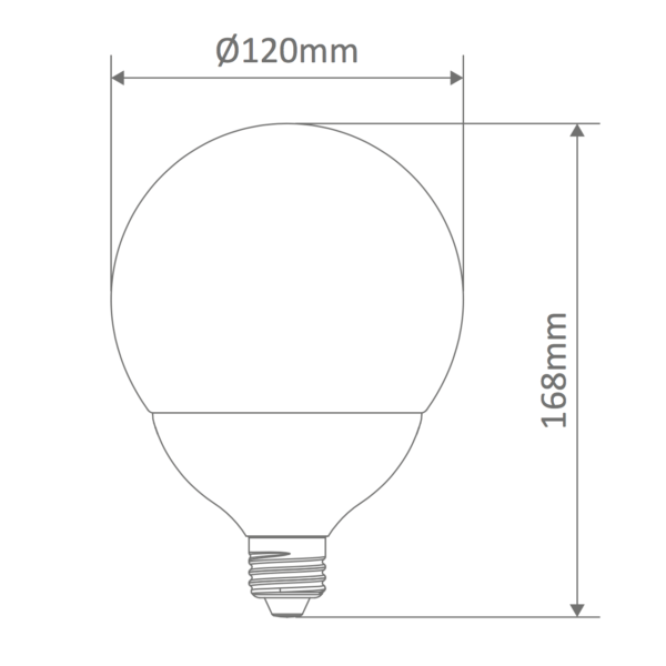 G120 Spherical Frost Led E27 Globe