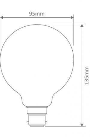 G95 Carbon Filament B22 Globe