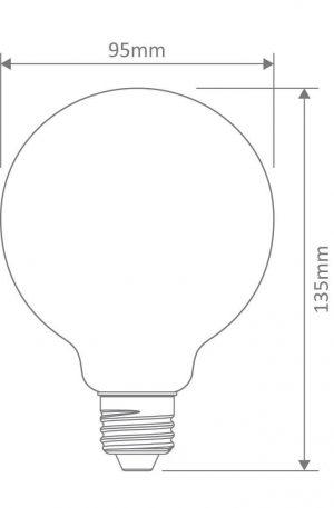 G95 Carbon Filament E27 Globe