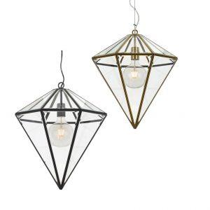Talia 1 Light Small Pendant - Cone Style Glass Pendant Light