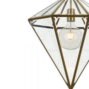 Talia 1 Light Large Pendant - Cone Style Glass Pendant Light Detail