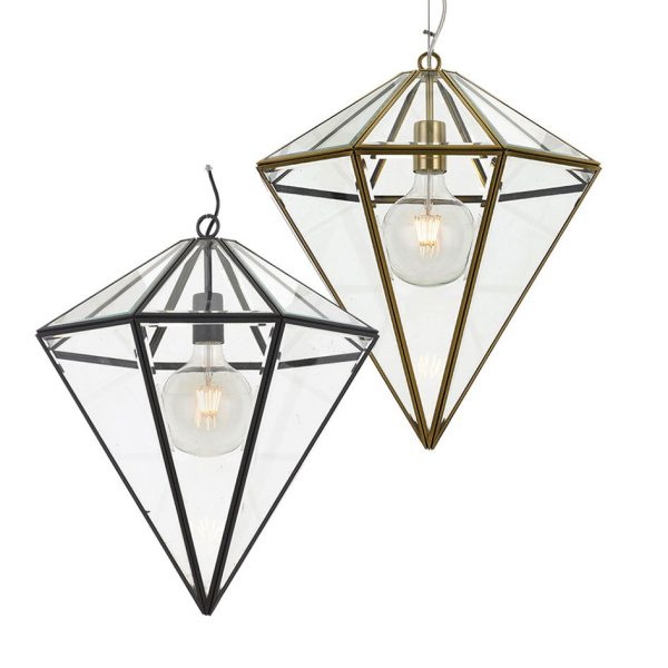 Talia 1 Light Large Pendant - Cone Style Glass Pendant Light