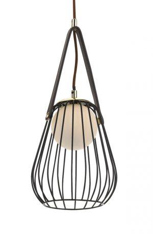 Carla 1 Light Pendant - Metallic Cage Shade Pendant