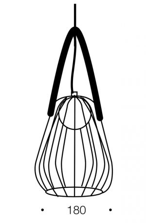 Carla 1 Light Pendant - Metallic Cage Shade Pendant Size