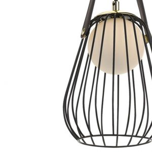 Carla 1 Light Pendant - Metallic Cage Shade Pendant Detail