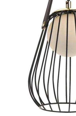 Carla 1 Light Pendant - Metallic Cage Shade Pendant Detail