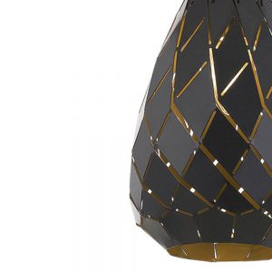 Simon 1 Light Small Pendant - Textile Shade Pendant Light Black