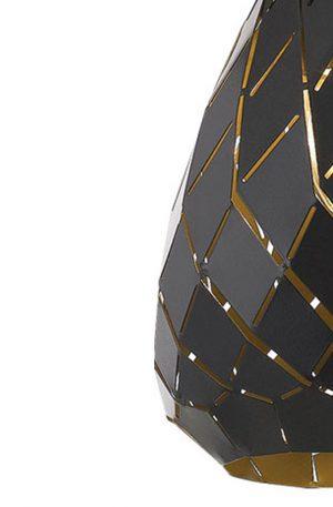 Simon 1 Light Small Pendant - Textile Shade Pendant Light Black