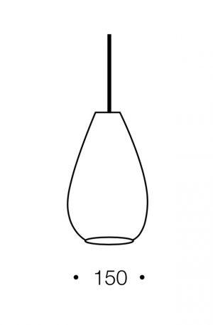 Simon 1 Light Small Pendant - Textile Shade Pendant Light Dimension