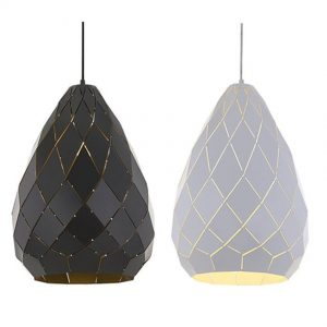 Simon 1 Light Large Pendant - Textile Shade Pendant Light