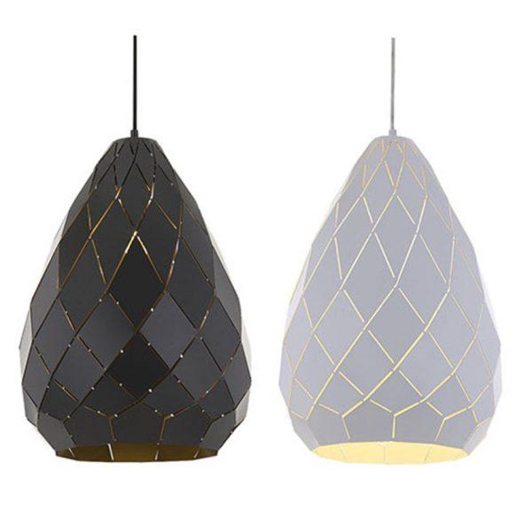 Simon 1 Light Large Pendant - Textile Shade Pendant Light