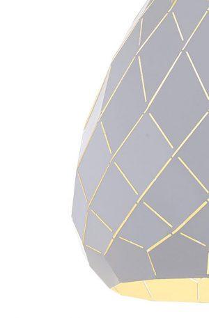 Simon 1 Light Large Pendant - Textile Shade Pendant Light ZoomIn